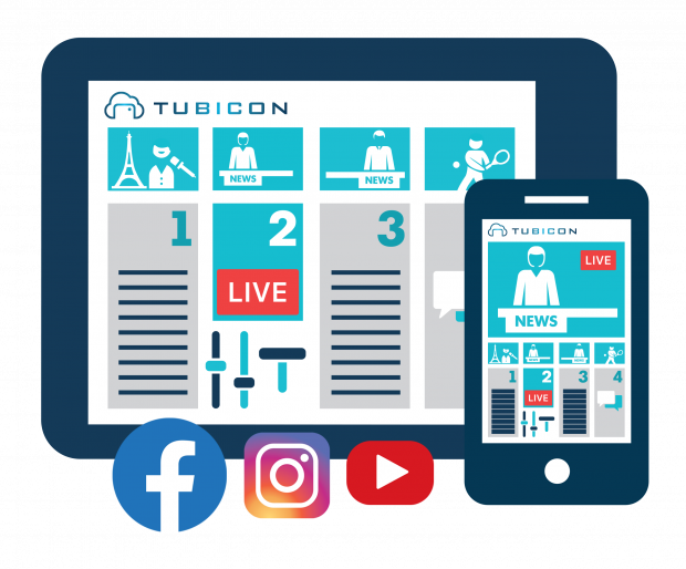 TUBICON's mobile app interface